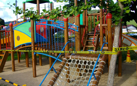 三方幼稚園 遊具耐久化工事